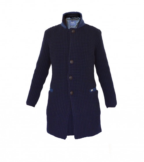 Cappotto in lana - Navy