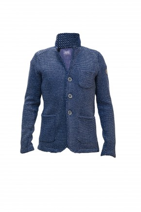 Blazer Jacquard Denim/Latte